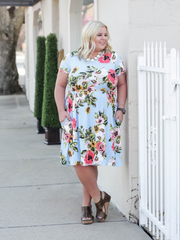 The Penelope Floral Dress- Blue