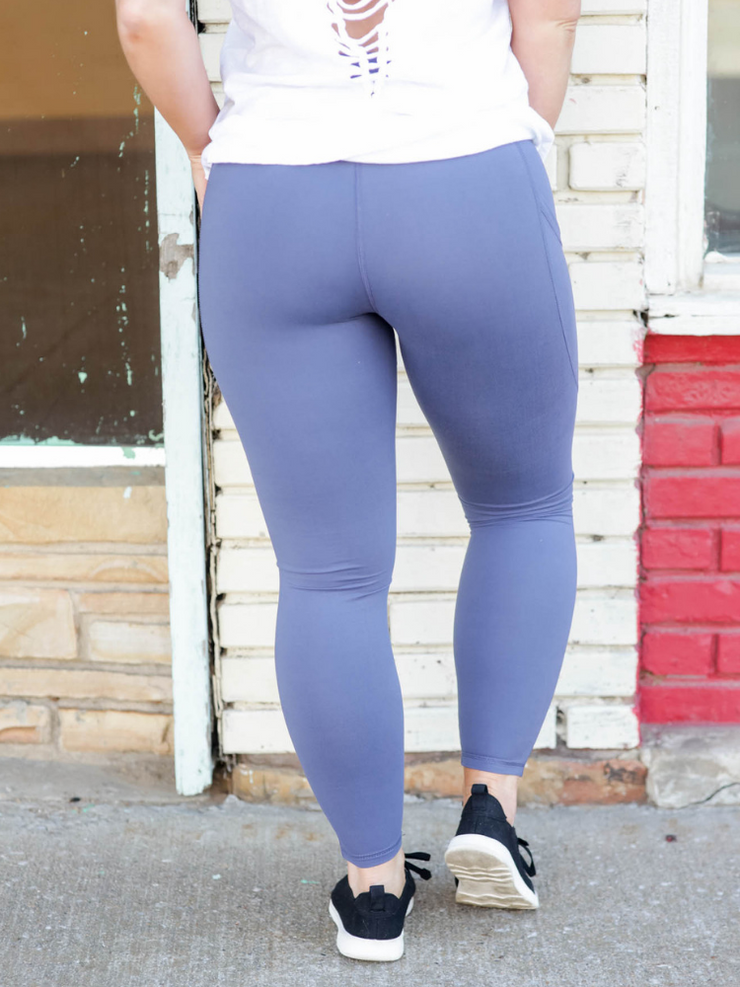 Pocket Yoga Legging- Denim