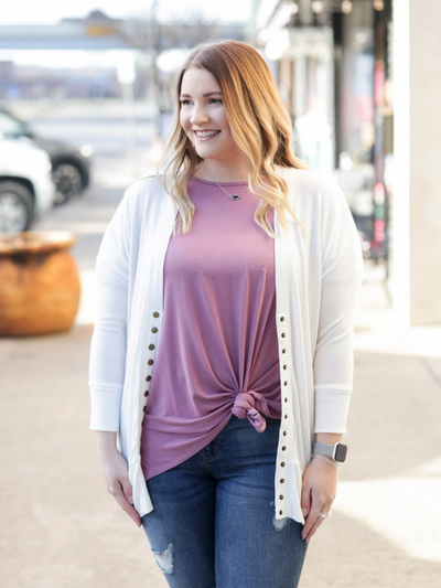 The Christine Cardigan- Ivory