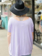 Piko Top Short Sleeve- Lavender