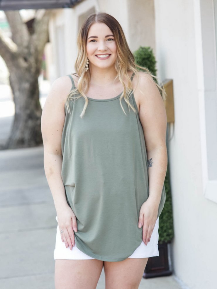 Reversible Tank-Light Olive