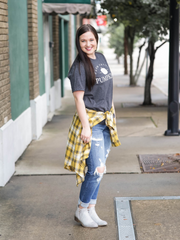 Maisie Flannel in Mustard