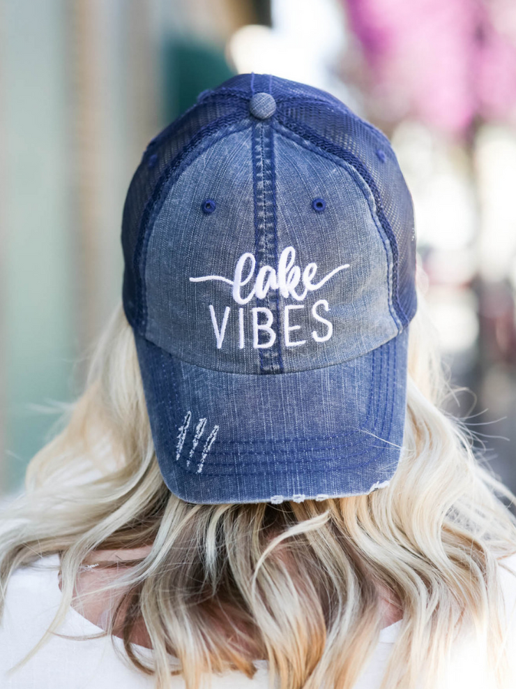 Lake Vibes Trucker Hat- Navy