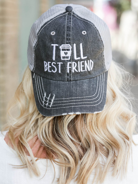Tall Best Friend Trucker Hat- Grey