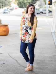 The Grace Top - Mustard