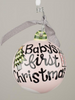 Christmas Ornament - Baby's First Christmas (girl)