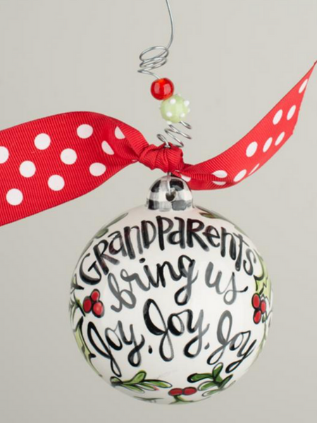 Grandparents Bring Us Joy Ball Ornament