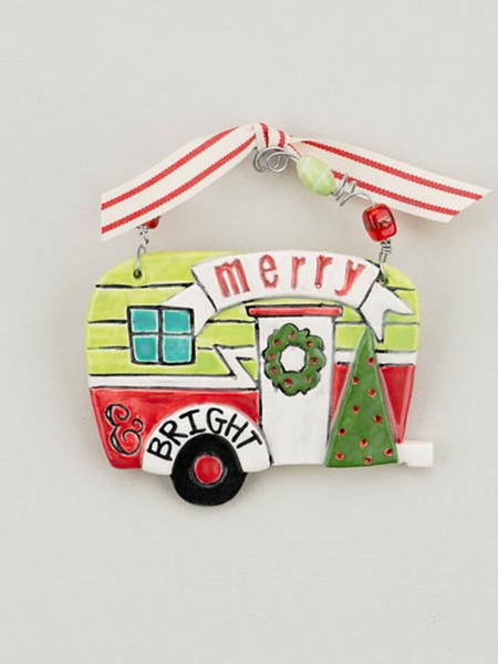 Merry & Bright Camper Flat Ornament