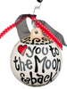 To the moon And back ball ornament