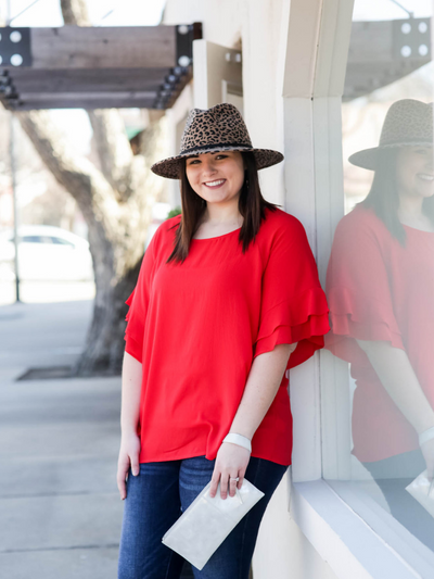 The Marisa Top- Red