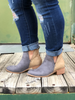 The Shield Bootie- Taupe and Grey