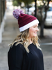 CC Beanie Gameday Collection- Maroon / White