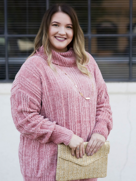 The Toni Sweater - Ash Rose