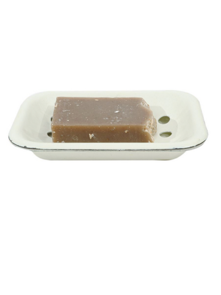 Enamel Distressed Soap Dish