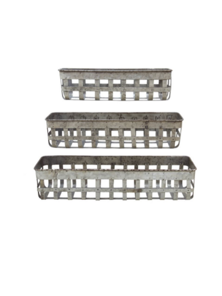 Metal Open Weave Basket-Medium
