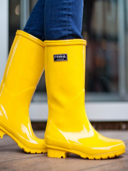 The Emma Boot-Yellow