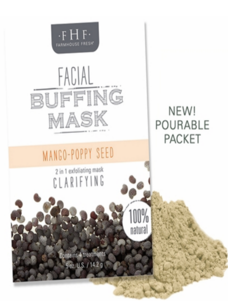 FHF Facial Buffing Mask- Mango/Poppy