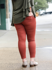 The Motto Jegging- Terracotta