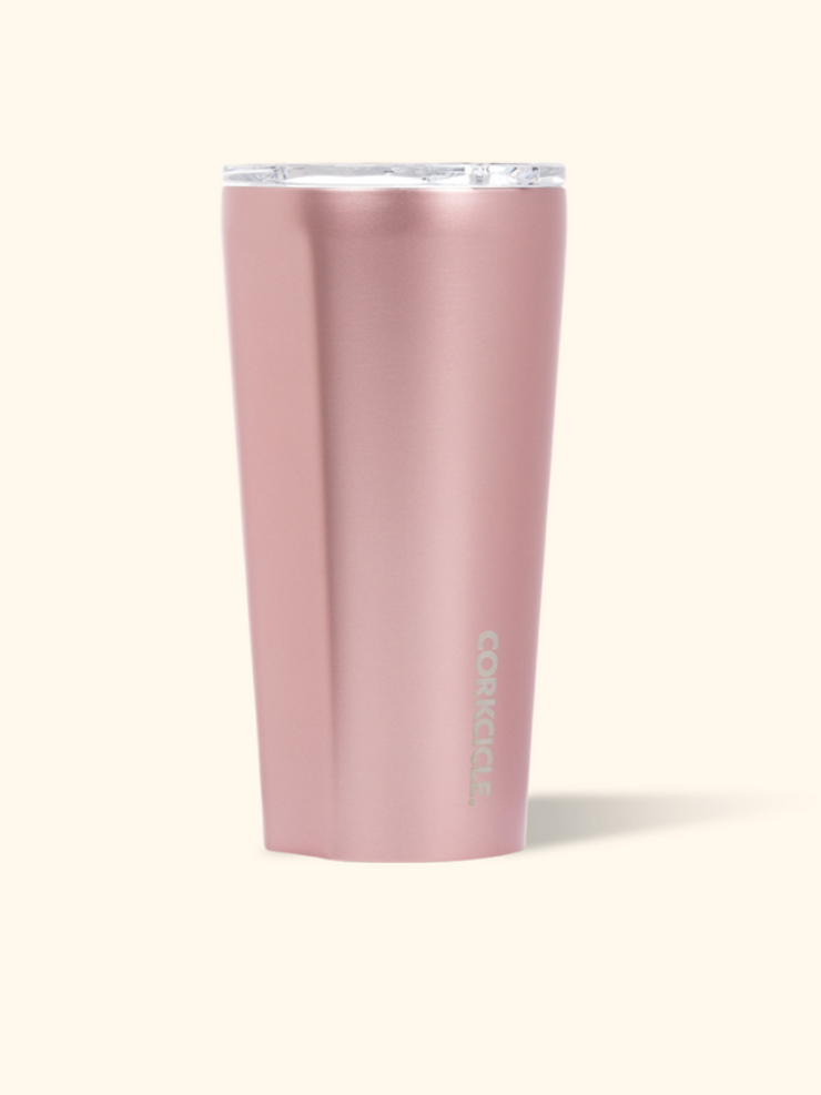 Corkcicle- 16 oz Tumbler Rose Metallic