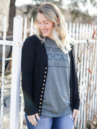 The Christine Cardigan-Black