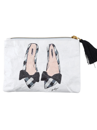 Coin Purse- Checkered Shoes