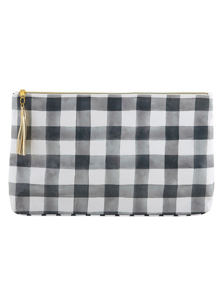 Large Oil Cloth Bag- Buffalo Check