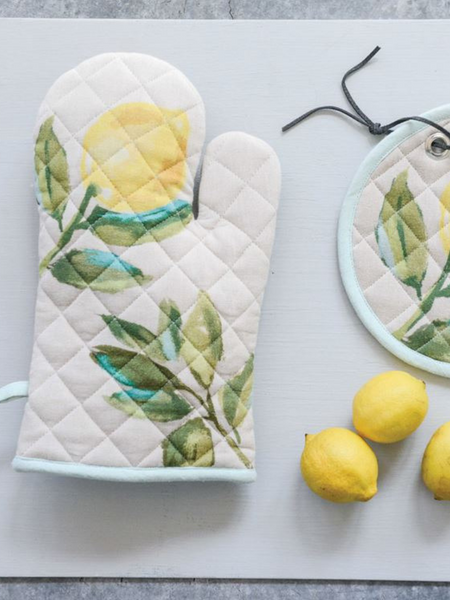Cotton Hot Mitt w/Lemon