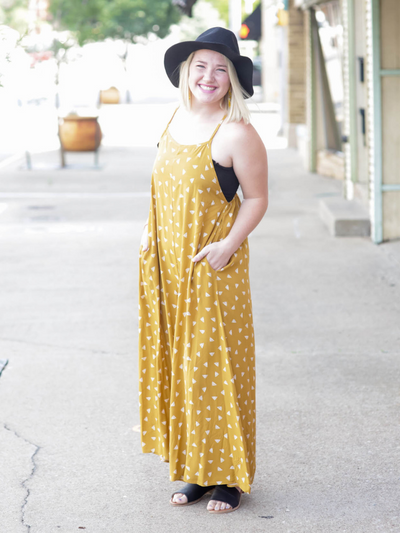 Be The Queen Jumpsuit- Mustard