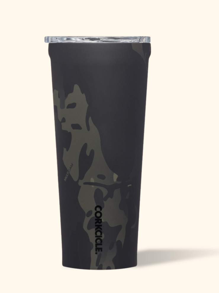 Corkcicle- 24 oz Black Camo