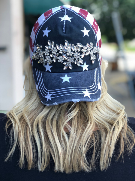 USA Hat-Band Rhinestones