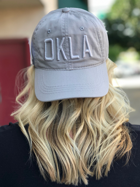 OKLA Ball Cap- Light Grey