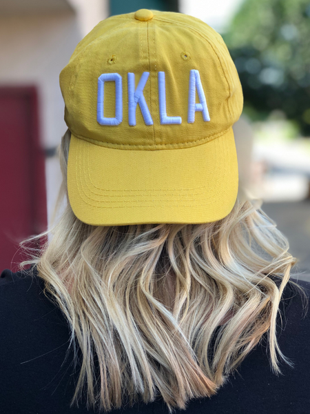 OKLA Ball Cap- Yellow/White