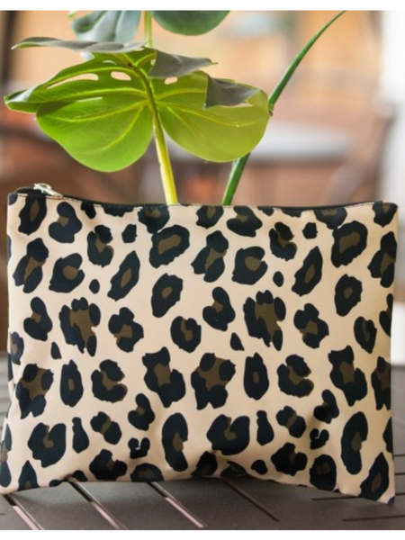 Large Zip Pouch Wristlet- Wild Side