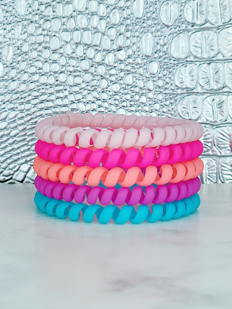 Hotline Hair Ties- Paradise Matte (5 Pack)