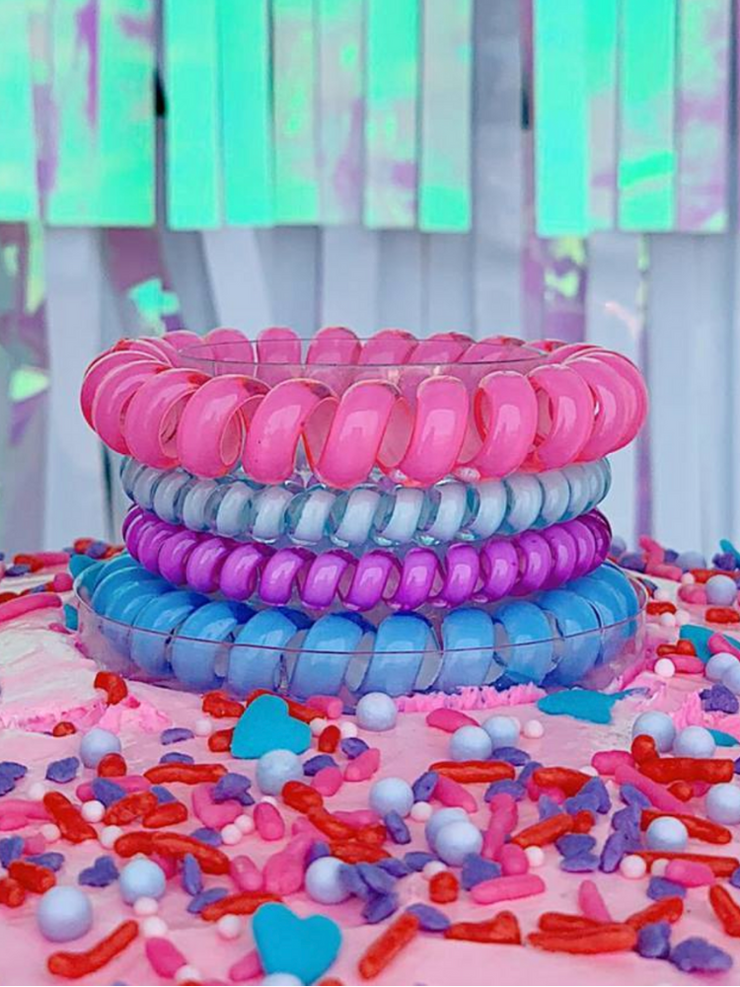 Hotline Hair Ties- Birthday Sprinkle (4 Pack)
