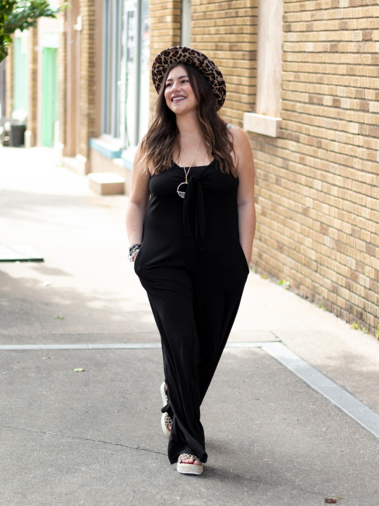 The Everly Jumpsuit- Black
