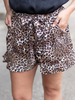 The Clara Leopard Ruffled Shorts