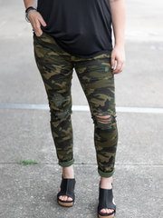 Now You See Me Camo Print Skinnies
