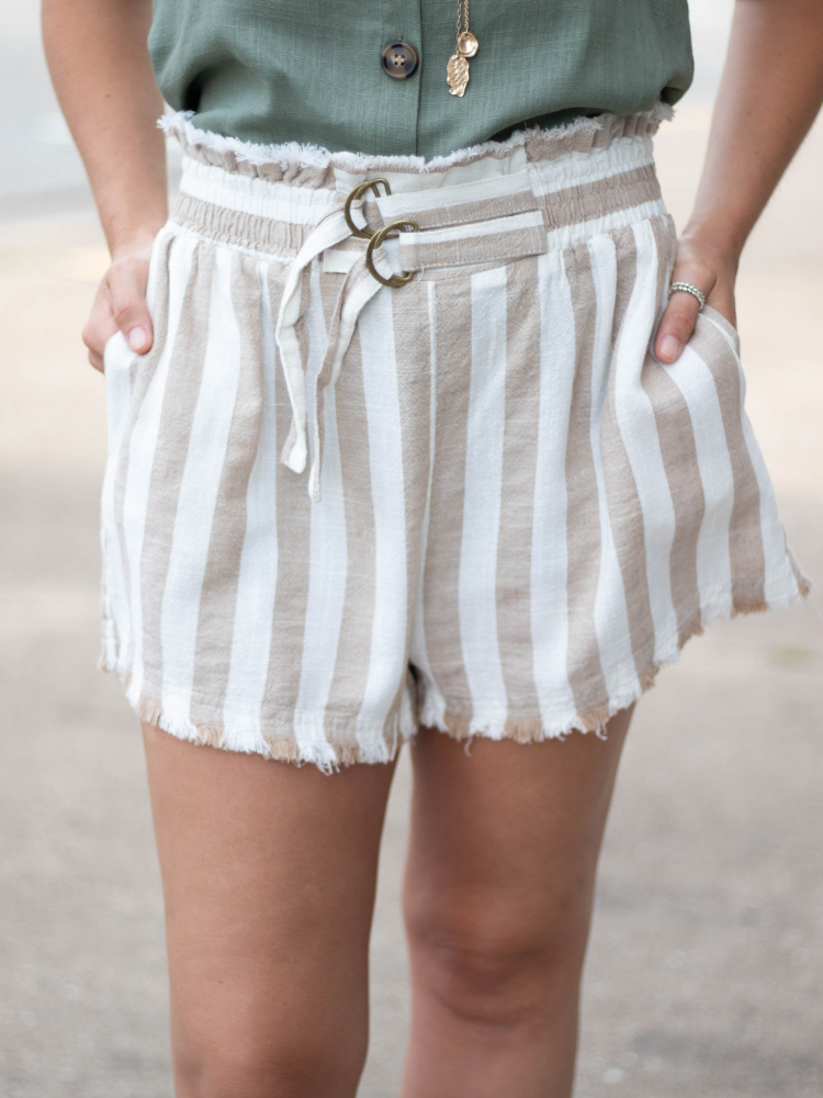 The Serena Linen Blend Shorts