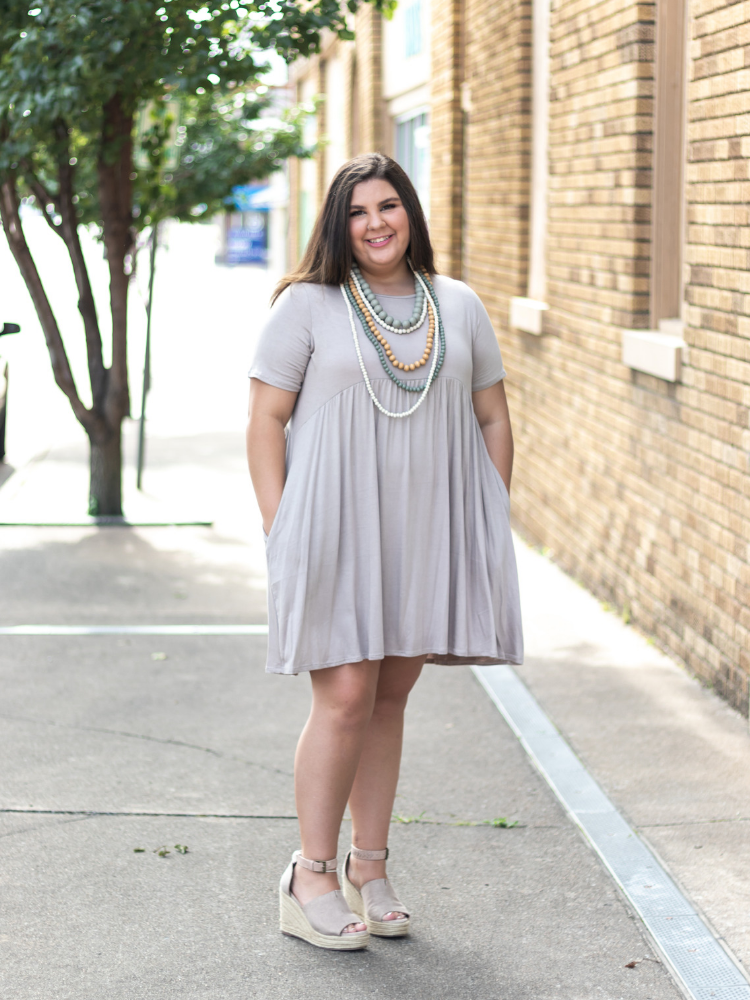 Feeling Beautiful Babydoll Dress in Coffee