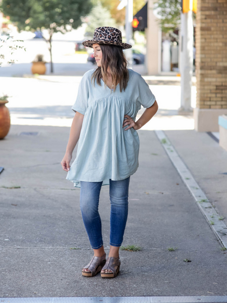 The Emerson Top in Sage