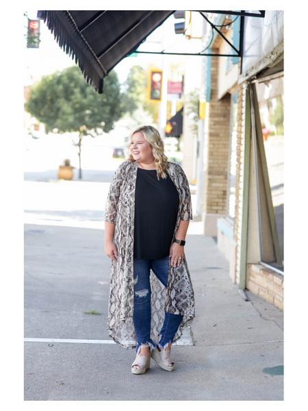 The Jolene Snakeskin Duster