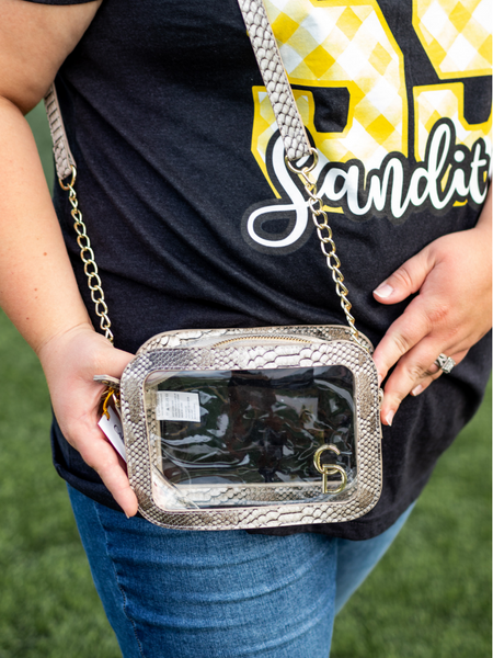 "The ""Clearly Chic"" Camera Crossbody"