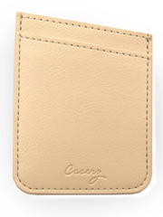 Casery Phone Pocket- Beige Leather