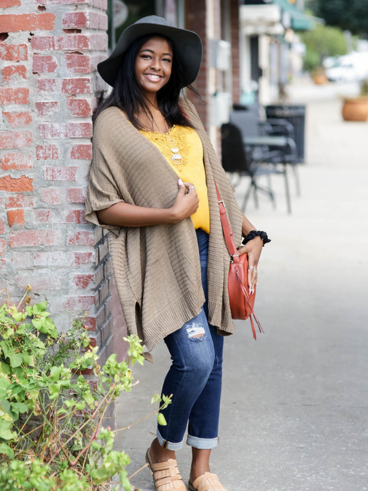 By The Fire Side Cardigan in Mocha