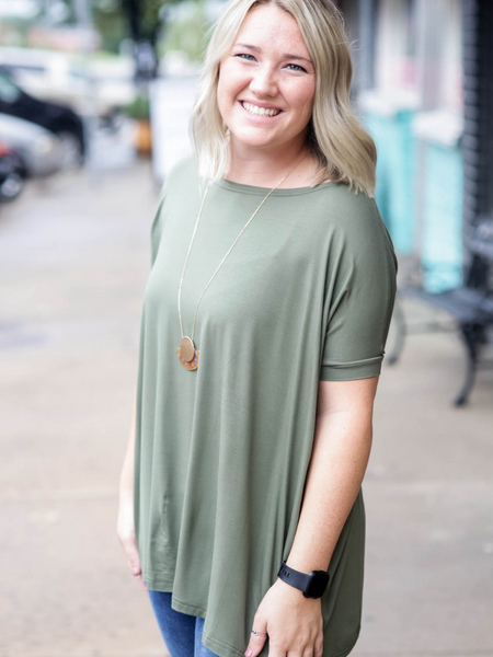 Piko Short Sleeve Top, Olive
