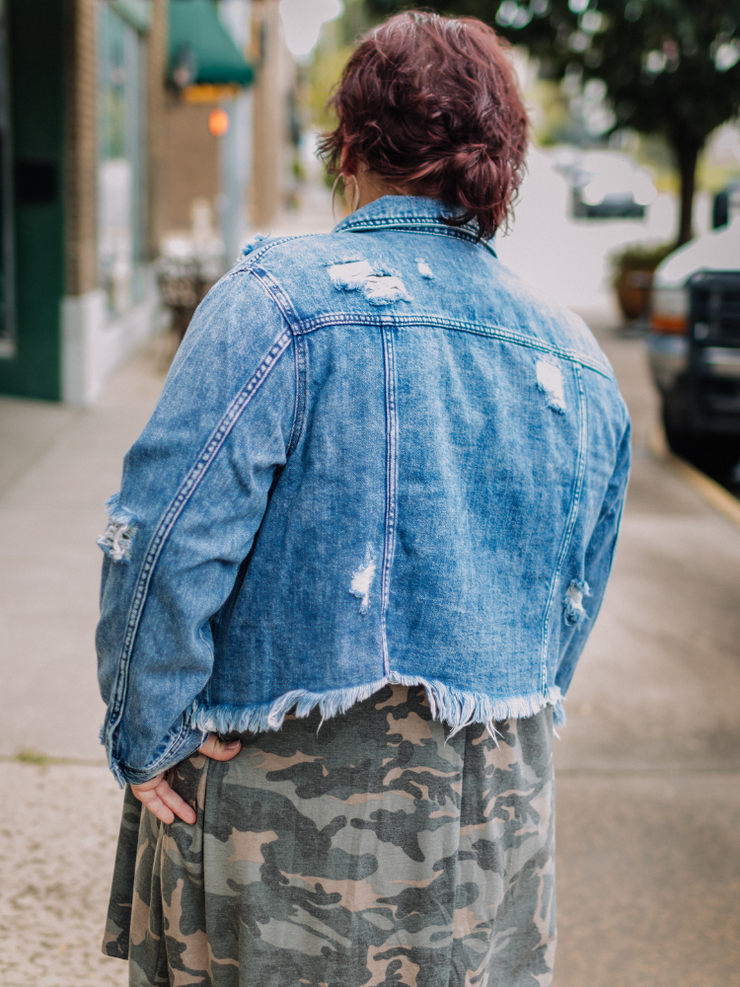 The Scarlett Frayed Denim Jacket