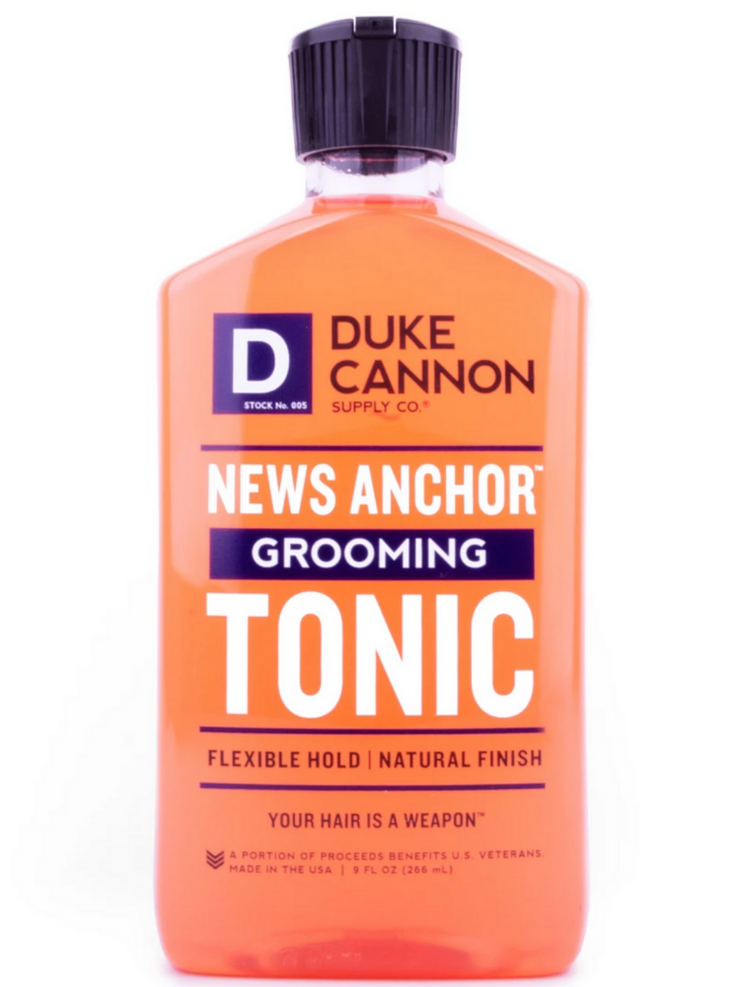 NEWS ANCHOR GROOMING TONIC
