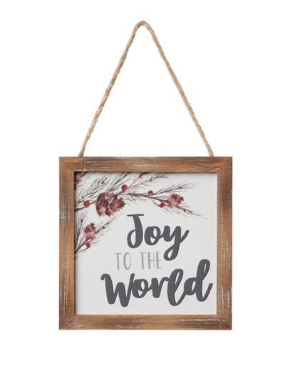 Joy To The World Framed Ornament