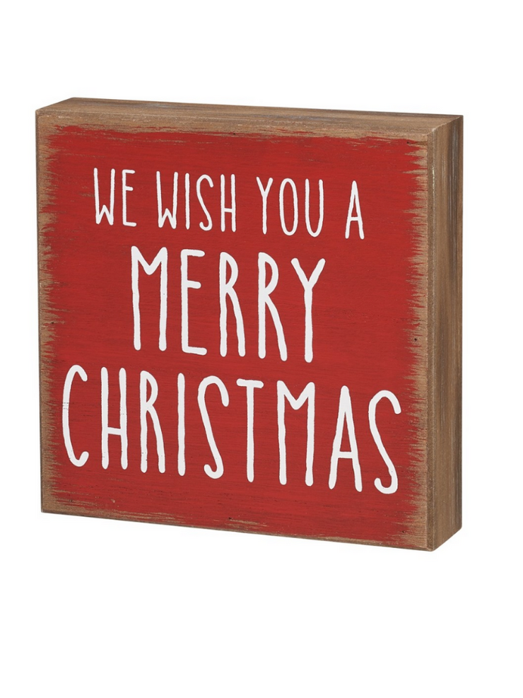 We Wish You A Merry Christmas Box Sign